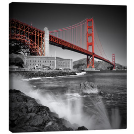 Canvas  Golden Gate Bridge Fort Point - Melanie Viola