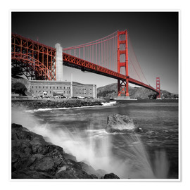 Poster  Golden Gate Bridge Fort Point - Melanie Viola