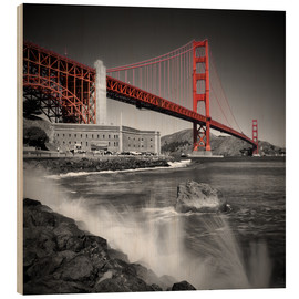 Wood  Golden Gate Bridge Fort Point - Melanie Viola