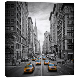 Canvas print  NEW YORK CITY 5th Avenue Traffic - Melanie Viola