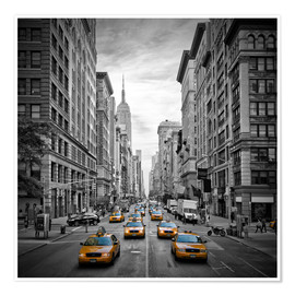 Premium poster NEW YORK CITY 5th Avenue Traffic