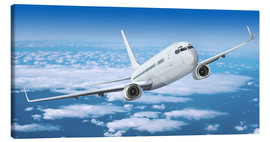 Canvas print  Passenger airline over the clouds - Kalle60