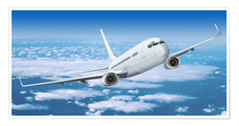 Premium poster  Passenger airline over the clouds - Kalle60