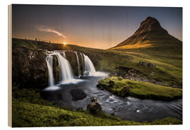 Wood print  Fair Tyle Countryside in Iceland - Andreas Wonisch