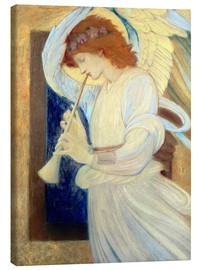 Canvas print  An Angel Playing a Flageolet - Edward Burne-Jones