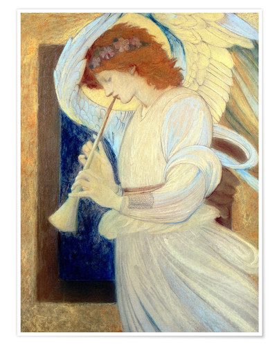 Premium poster An Angel Playing a Flageolet