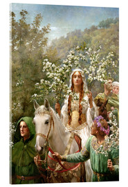 Acrylic print  Queen Guinevere's Maying - John Collier