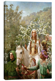 Canvas print  Queen Guinevere's Maying - John Collier