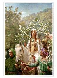 Premium poster Queen Guinevere's Maying