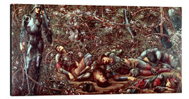 Aluminium print  Briar Rose - The Briar Wood - Edward Burne-Jones