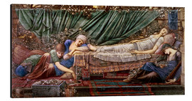 Aluminium print  Briar Rose - The Rose Bower - Edward Burne-Jones