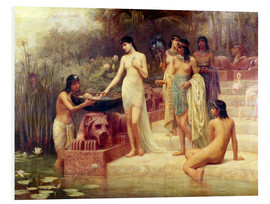 Foam board print  Pharaoh's Daughter - The Finding of Moses - Edwin Longsden Long