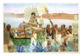 Premium poster  The Finding of Moses by Pharaoh's Daughter - Lawrence Alma-Tadema