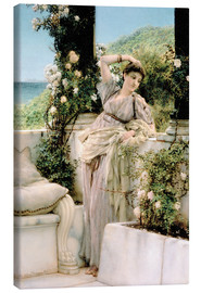Canvas print  Thou Rose of All the Roses - Lawrence Alma-Tadema