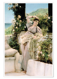 Premium poster  Thou Rose of All the Roses - Lawrence Alma-Tadema