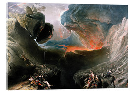 Acrylic print  The Great Day of His Wrath, engraved by Charles Mottram - John Martin