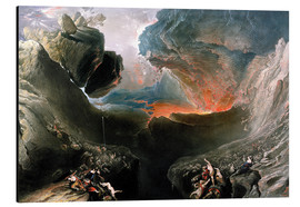 Aluminium print  The Great Day of His Wrath, engraved by Charles Mottram - John Martin