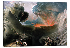 Canvas print  The Great Day of His Wrath, engraved by Charles Mottram - John Martin