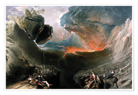 Premium poster  The Great Day of His Wrath, engraved by Charles Mottram - John Martin