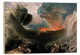 Wood print  The Great Day of His Wrath, engraved by Charles Mottram - John Martin