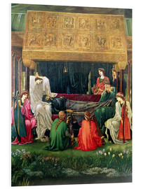 Foam board print  The last sleep of Arthur in Avalon, 1881-98 - Edward Burne-Jones