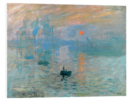 Foam board print  Sunrise - Claude Monet