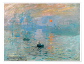 Poster  Sunrise - Claude Monet