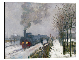 Aluminium print  Train in the snow (The Locomotive) - Claude Monet