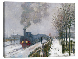 Canvas  Train in the Snow (The Locomotive) - Claude Monet
