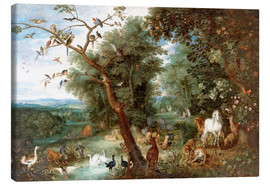 Canvas print  The Garden of Eden with Adam and Eve - Jan Brueghel d.Ä.