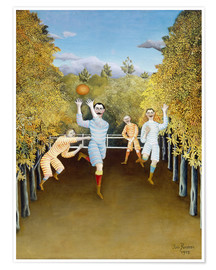 Premium poster  The football players - Henri Rousseau