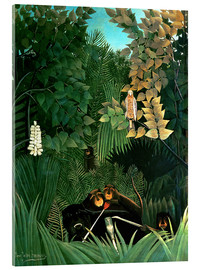 Acrylic print  The monkeys - Henri Rousseau