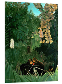 Foam board print  The monkeys - Henri Rousseau