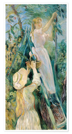 Premium poster  The Cherry Pickers - Berthe Morisot