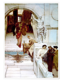Premium poster  An Audience at Agrippa's - Lawrence Alma-Tadema
