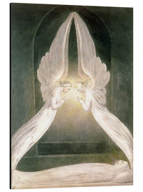 Alu-Dibond  Christ in the Sepulchre, Guarded by Angels - William Blake