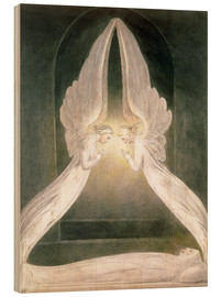 Wood print  Christ in the Sepulchre, Guarded by Angels - William Blake