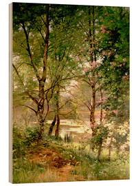 Wood print  In the fairytale forest - Ernest Parton