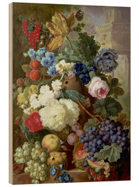 Wood print  Flowers and Fruit - Jan van Os