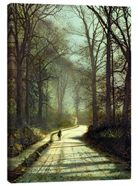 Canvas  Moonlight Walk - John Atkinson Grimshaw