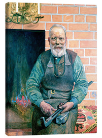 Canvas print  Erik Erikson, the Blacksmith - Carl Larsson