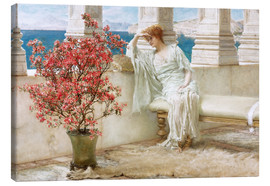 Canvas print  Her eyes are with her thoughts and they are far away - Lawrence Alma-Tadema