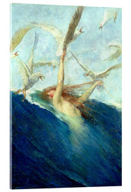 Acrylic print  A Mermaid Being Mobbed by Seagulls - Giovanni Segantini