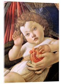 Acrylic print  Christ Child from the Madonna of the Pomegranate - Sandro Botticelli