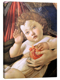 Canvas print  Christ Child from the Madonna of the Pomegranate - Sandro Botticelli