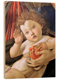 Wood print  Christ Child from the Madonna of the Pomegranate - Sandro Botticelli