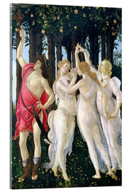 Acrylic print  Detail of the Three Graces and Mercury, from the Primavera - Sandro Botticelli