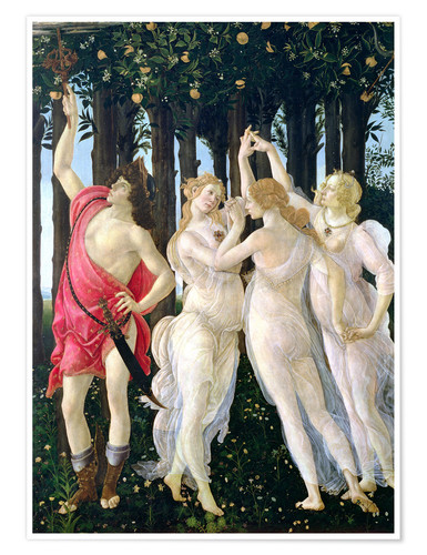 Premium poster Detail of the Three Graces and Mercury, from the Primavera