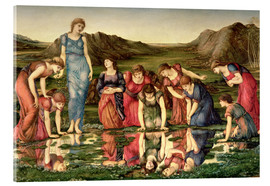 Acrylic print  The Mirror of Venus - Edward Burne-Jones