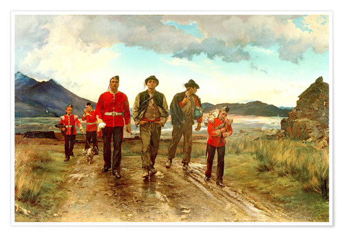 Premium poster 'Listed for the Connaught Rangers': Recruiting in Ireland, 1878